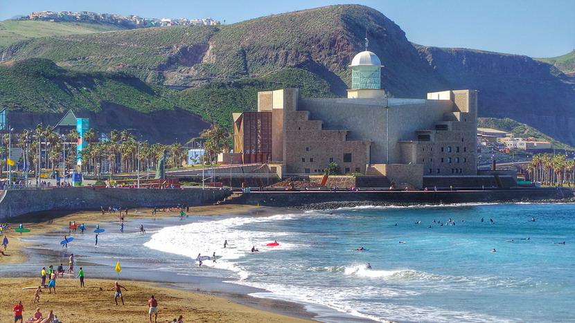 la Playa de las canteras di Las Palmas